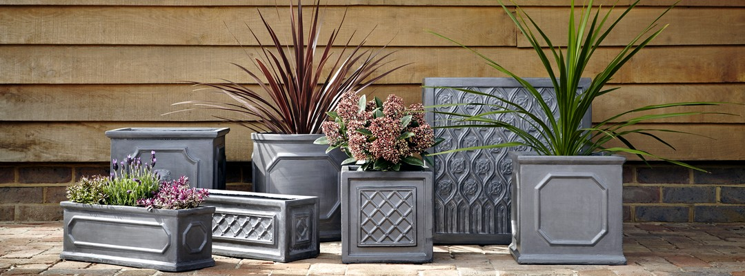 The Faux Lead Garden Planter Range