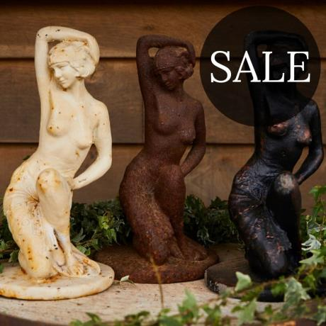 Cast Iron Fifties Nude Statue
