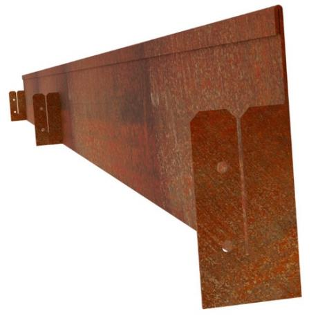 Folded Corten Steel Lawn Edging Landscape Feature
