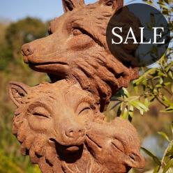 *SALE* Fox Family Statue
