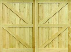 Garage Doors Framed, Ledged & Braced (Oak, Idigbo or Softwood)