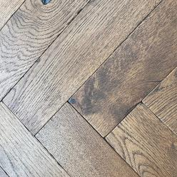 General's House Herringbone Oak Parquet Flooring