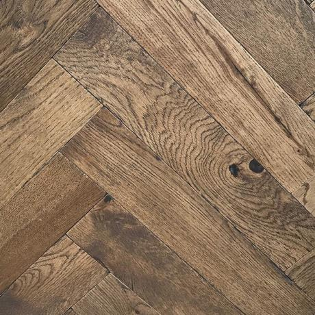 General's House Herringbone Bespoke Oak Parquet Timber Wood Flooring