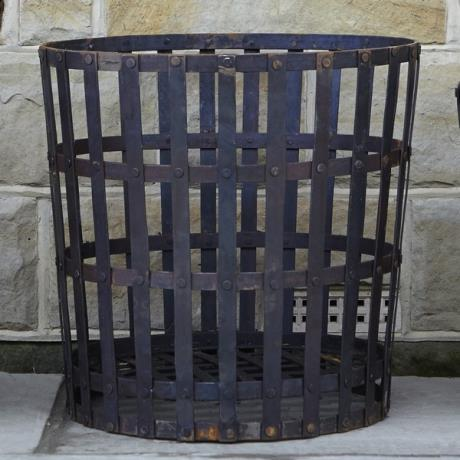 Wrought Iron Gothic Log Basket Wood Store Brazier