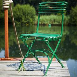 Green Folding Plaque Chair