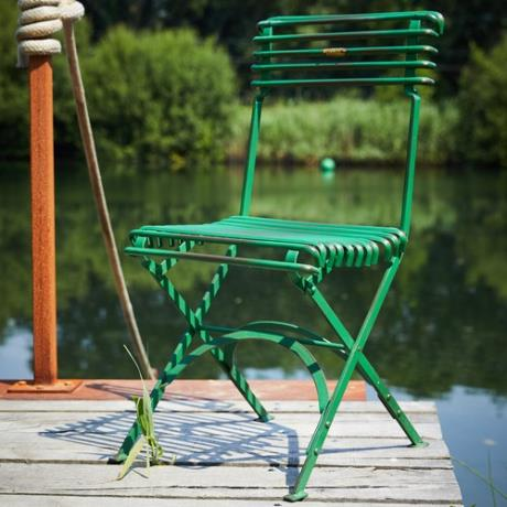 Green Folding Plaque Chair Seat Garden Furniture