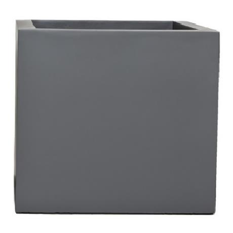 Grey Fibrestone Contemporary Square Box Garden Planter