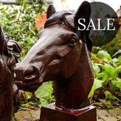 *SALE* Horse Head Statue on Plinth