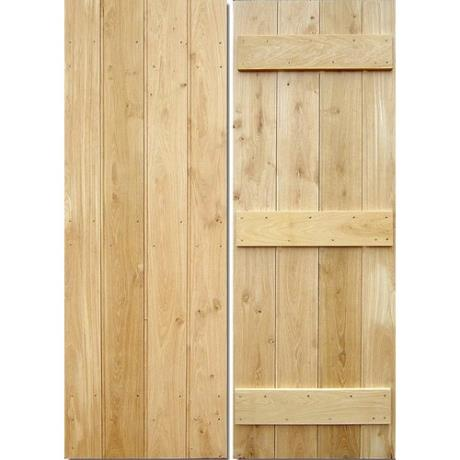 Internal Solid Oak Farmhouse Door, (fixed width boards) finished with Rose Head Nails