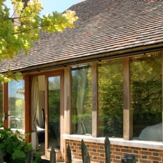 Oak Framed Building with Direct Glazing Windows