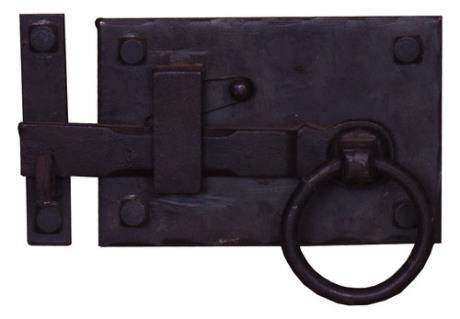 Left Sided Traditional Wrought Iron Cottage Latch