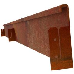 Lipped Corten Steel Edging