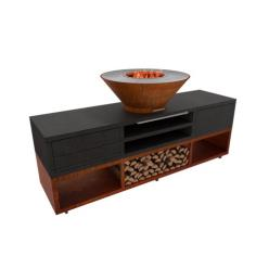Luxury Qualis Corten Steel BBQ Burner