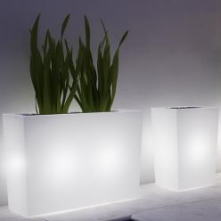 Neutral White Fiori Cassa Alta Luminous Planter