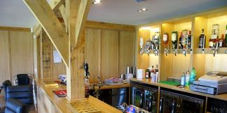 Oak Framed Bar Area inside Mayfield Cricket Club Pavilion