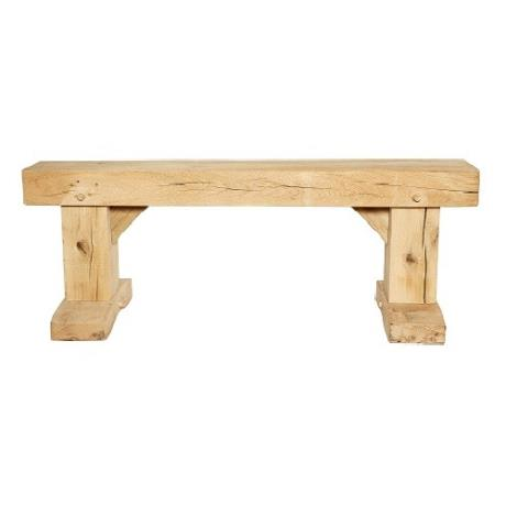 Solid Oak Sleeper Bench Seat Garden Furniture