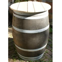 *OUT OF STOCK* Oak Wine Barrel Table