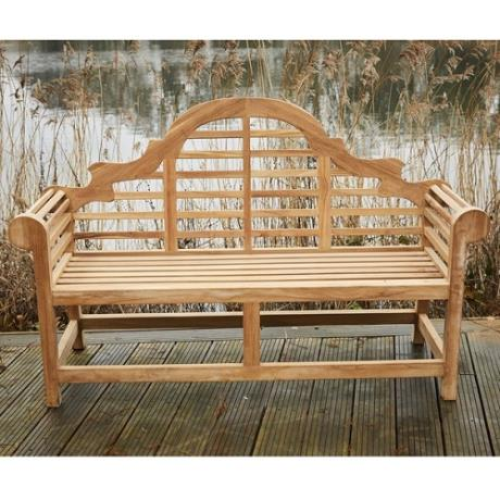 Ornate Indonesian Hardwood Bench Seat Garden Furniture