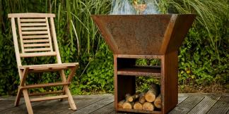 Outdoor Garden Burners; Corten Steel Potes Burner