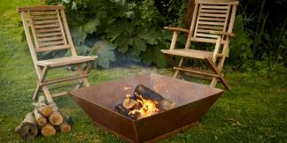 Outdoor Garden Burners; Corten Steel Magna Burner