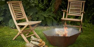 Outdoor Garden Burners; Corten Steel Dium Burner