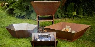 Outdoor Corten Steel Garden Burners