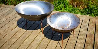 Outdoor Garden Burners; Mild Steel Firepits