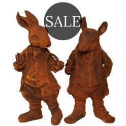 *SALE* Pair of Woodland Creature Statues