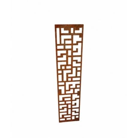 Pavert Corten Steel Decorative Panel Landscape Garden Feature