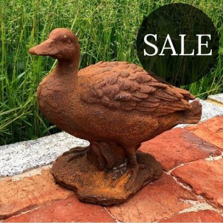 Cast Iron Puddle Duck Statue