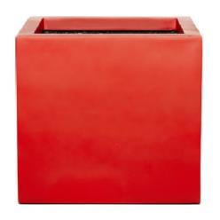 Red Fibrestone Contemporary Box Planter
