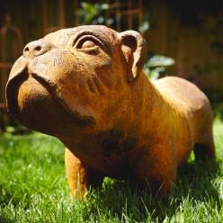 Bulldog Statue (Rust or Antique White)