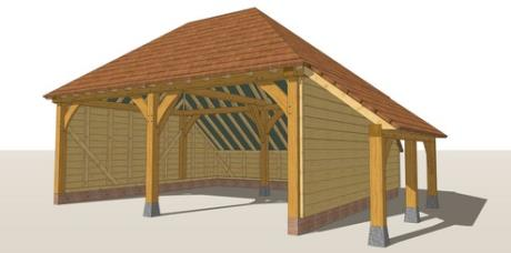 RW2HL Oak Framed Garage Guide Design