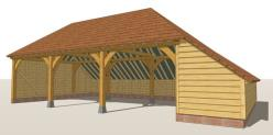 RW3HA Oak Framed Garage