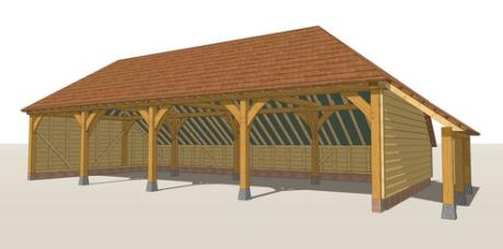 RW4HL Oak Framed Garage Guide Design