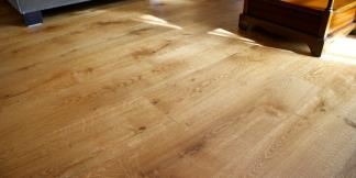 Solid Oak Flooring boards in lounge.