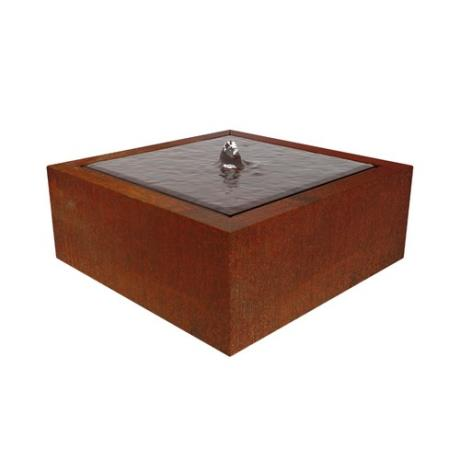 Somni Corten Steel Water Table Garden Landscape Feature