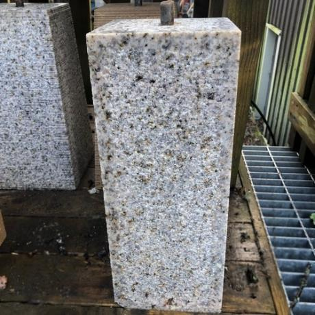 Tall Straight Granite Staddle Stone