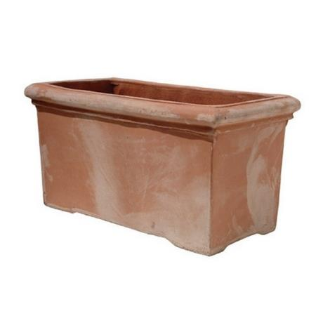 Terracini Rectangular Fresco Trough Garden Planter