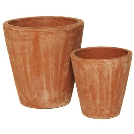 Terracini Round Long Tom Garden Cylinder Planters