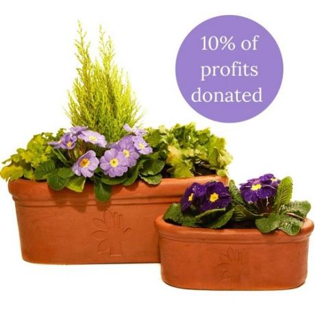 Terracini Oval Trough Thrive Charity Garden Planters - 10% of revenues are donated to the Thrive charity