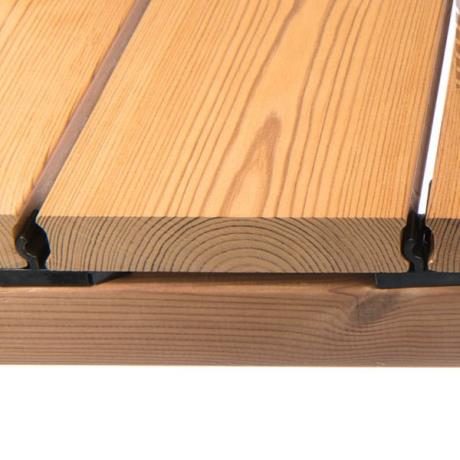 Thermory® Thermo-Treated Pine Decking with Thermory® TENI Clips