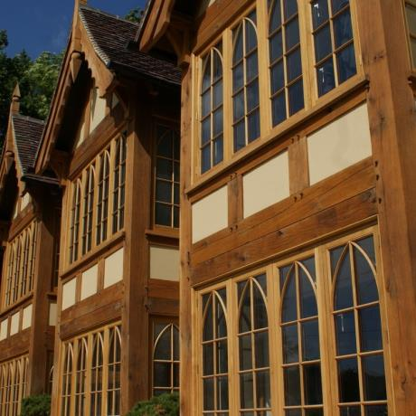 Traditional Oak Framed House with Cottage Style Casement Windows