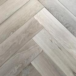 Unfinished Herringbone Oak Parquet Flooring