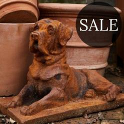*SALE* Watchful Dog Statue (Rust or White)