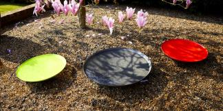 Water Features; Powder Coated Steel Water Bowls