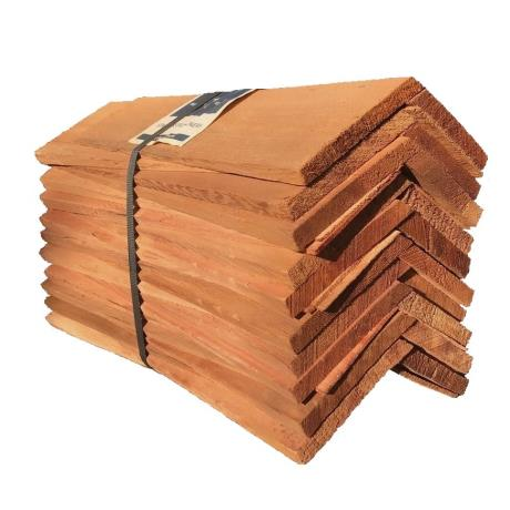 Pack of Western Red Cedar Hip & Ridge Tiles