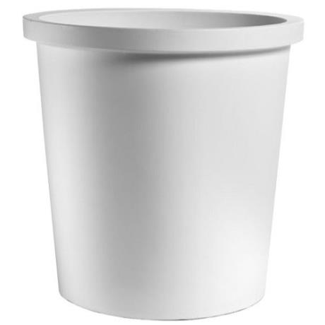 White Fiori Round Vaso A-Malo Garden Outdoor/Indoor Planter