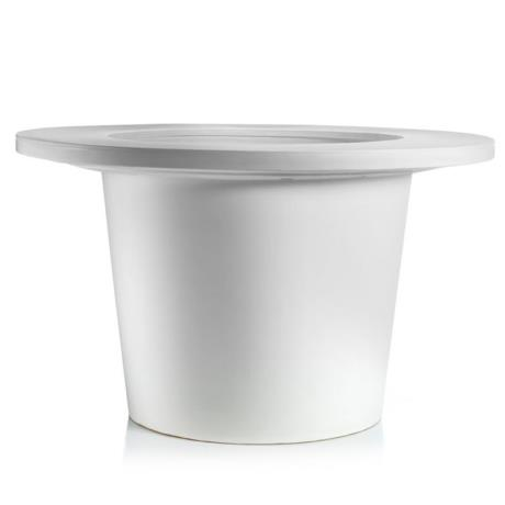 White Fiori Round Vaso A-Malo Garden Outdoor/Indoor Planter with Ring Accessory