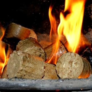 Mechanically compressed Eco-Nuggets produced from eco-friendly wood waste